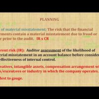 Audit planning CPA exam AUD auditing and attestation