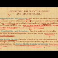 understand the client's business and industry CPA exam AUD Auditing and attestation