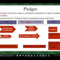Contribution and pledges for not for profit accounting CPA exam FAR
