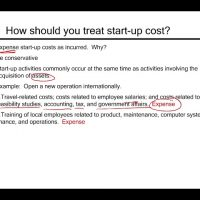 Start up cost FAR CPA exam Intermediate accounting ch 12