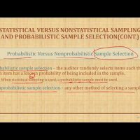statistical sampling and non statistical sample  probabilistic selection AUD CPA exam Auditing