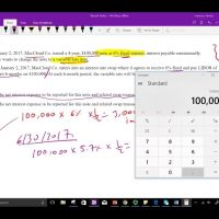 Derivative interest rateb swap example fixed to variable CPA exam FAR intermediate accounting
