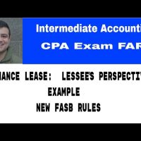 Finance lease lessee perspective CPA exam FAR intermediate accounting