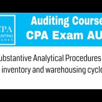 Substantive Analytical procedures for inventory and warehousing cycle CPA exam Auditing course