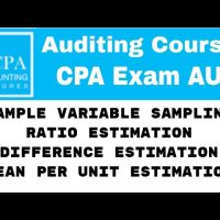 Variable sampling  mean per unit estimation  ratio estimation  difference estimation CPA exam AUD