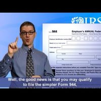 ASL: Some Taxpayers Can File Their Employment Taxes Annually (Captions & Audio)