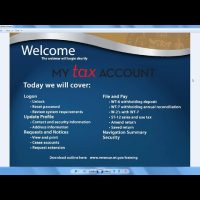 My Tax Account – New User Webinar for February 2018