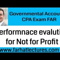 Performance evaluation for Not for Profit organizations Governmental accounting CPA exam