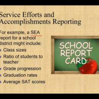 Service Efforts and Accomplishments SEA Reporting Governmental Course CPA exam FAR default