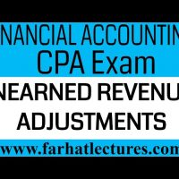 Unearned Revenue adjustments deferral Financial Accounting CPA exam